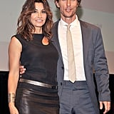 Matthew McConaughey posed with Gina Gershon at the Killer Joe screening in NYC.