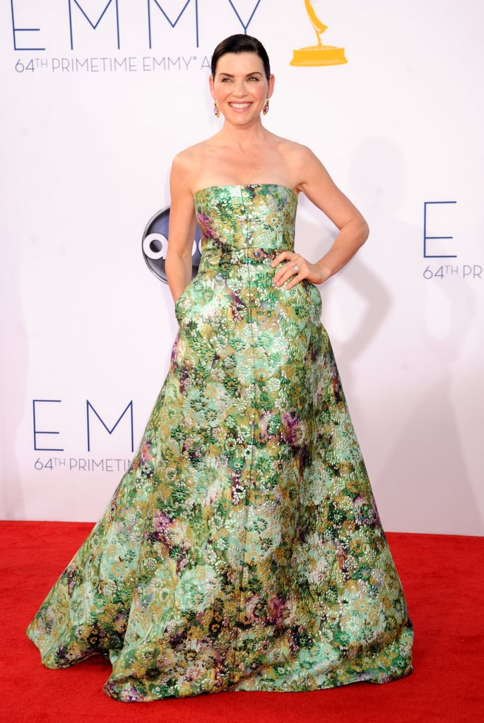 Julianna Margulies opted for a Giambattista Valli Couture gown at the 2012 Emmy Awards that perfectly encapsulates the designers love of flowers.