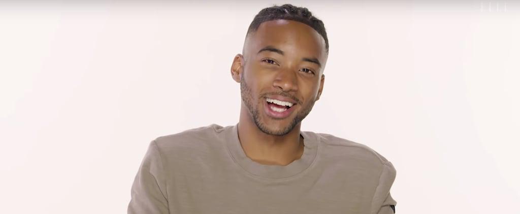 Algee Smith Sings Beyoncé in Elle's Song Association Video
