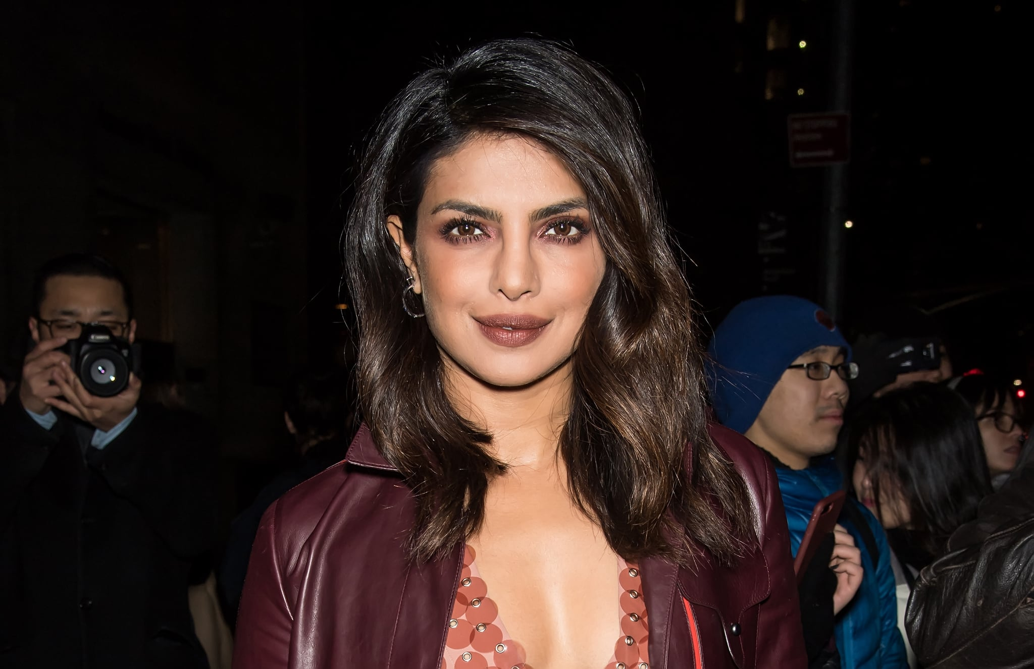 NEW YORK, NY - FEBRUARY 09:  Actress Priyanka Chopra is seen arriving to the Bottega Veneta fashion show during New York Fashion Week at New York Stock Exchange on February 9, 2018 in New York City.  (Photo by Gilbert Carrasquillo/GC Images)