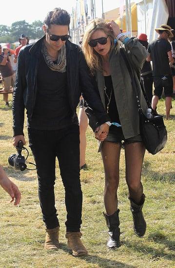 Jamie Hince and Kate Moss at Glastonbury