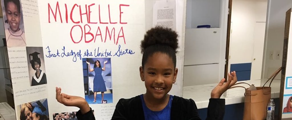 This Girl's Michelle Obama Project Was So Epic, Even the Former First Lady Gave It an A+