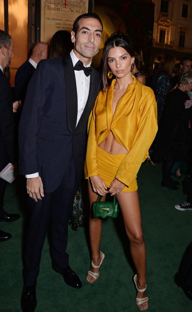 Emily Ratajkowski Yellow Outfit at Green Carpet Awards 2018