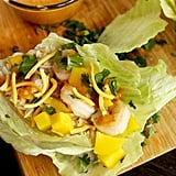 Prawn Lettuce Wraps With Spicy Peanut Sauce