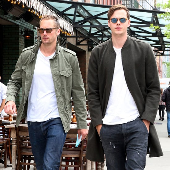 Alexander and Bill Skarsgard Out in NYC May 2017