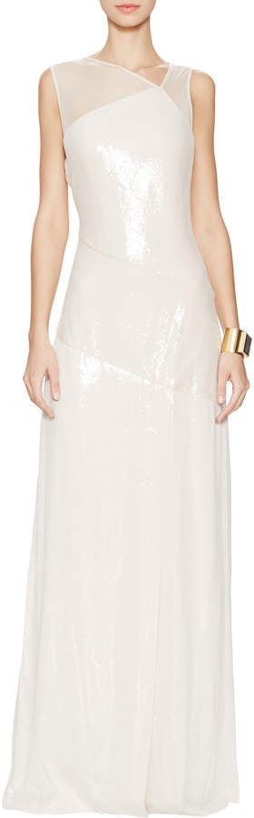 Halston Sequin Gown