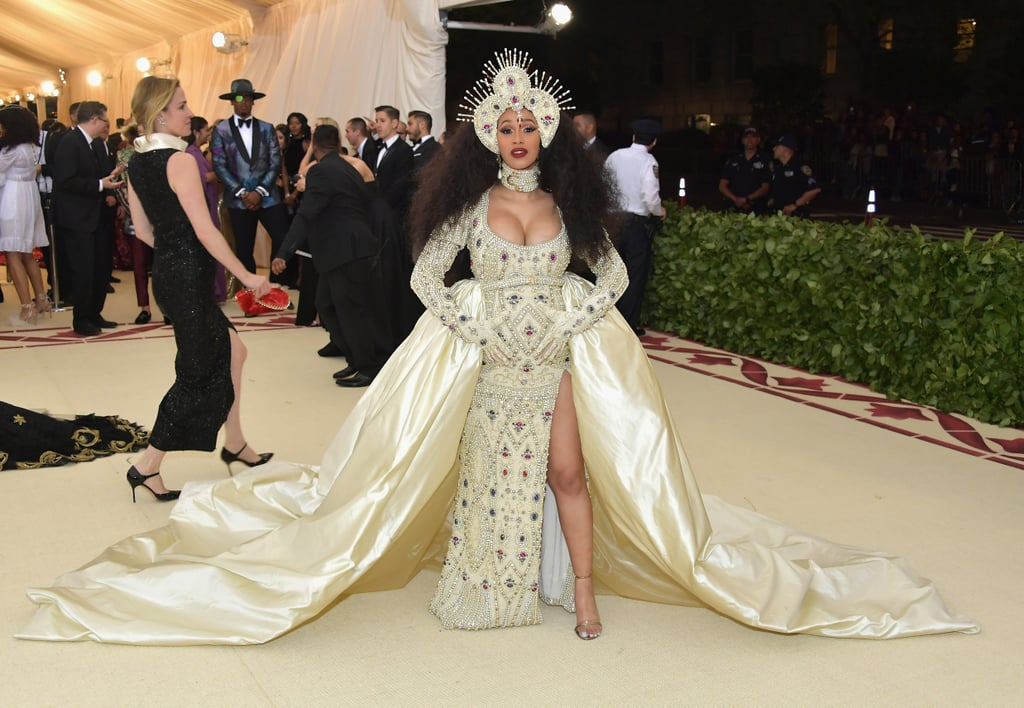 Cardi B At The 2018 Met Gala Cardi B Hair And Makeup At