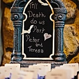 Teresa and Peter's Haunted Mansion-Themed Wedding