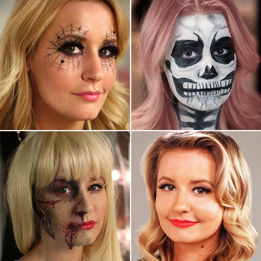 Halloween makeup tutorials video popsugar beauty halloween makeup tutorials video baditri Images