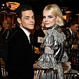 Rami Malek and Lucy Boynton at the 2020 Golden Globes