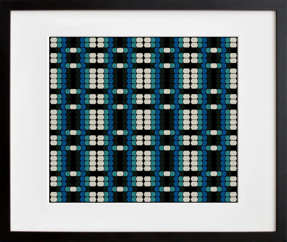 """The print """"Eye Shadow Overlap No. 3,"""" from the series Perceptual Beauty ($24 and up) from Michelle Marie Murphy was inspired by op art and third-wave feminism."""