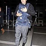Orlando Bloom and son Flynn Bloom arrived at LAX together Friday.