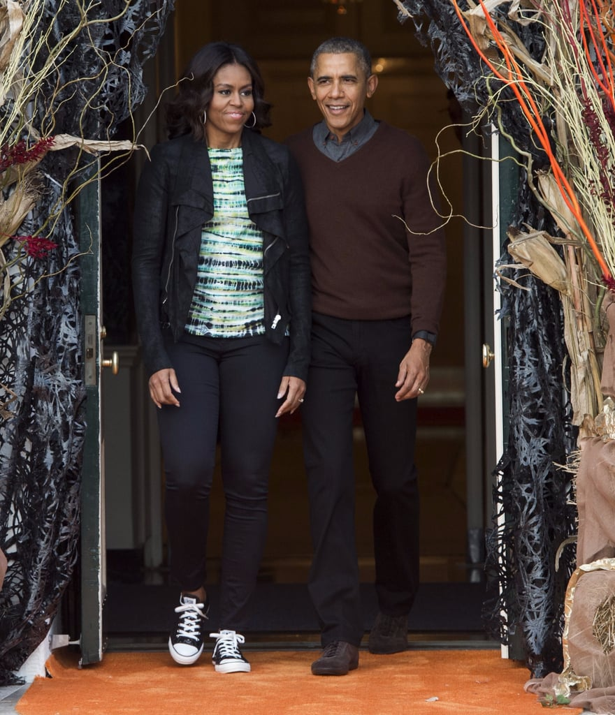 Michelle Obama Wearing Converse