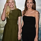 Angelina Jolie and Elle Fanning's Friendship Pictures