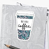 Floral Coffee Sticker
