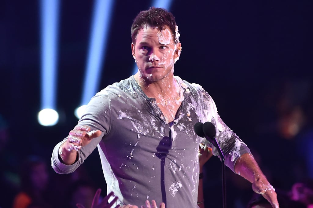Chris Pratt Continues to Be Adorable, Even When He's Covered in Pie Guts