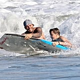 David Beckham and His Boys Have a Shirtless, Secure Day in the Malibu Surf