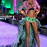 A long train from VS Pink is no challenge for Lais.