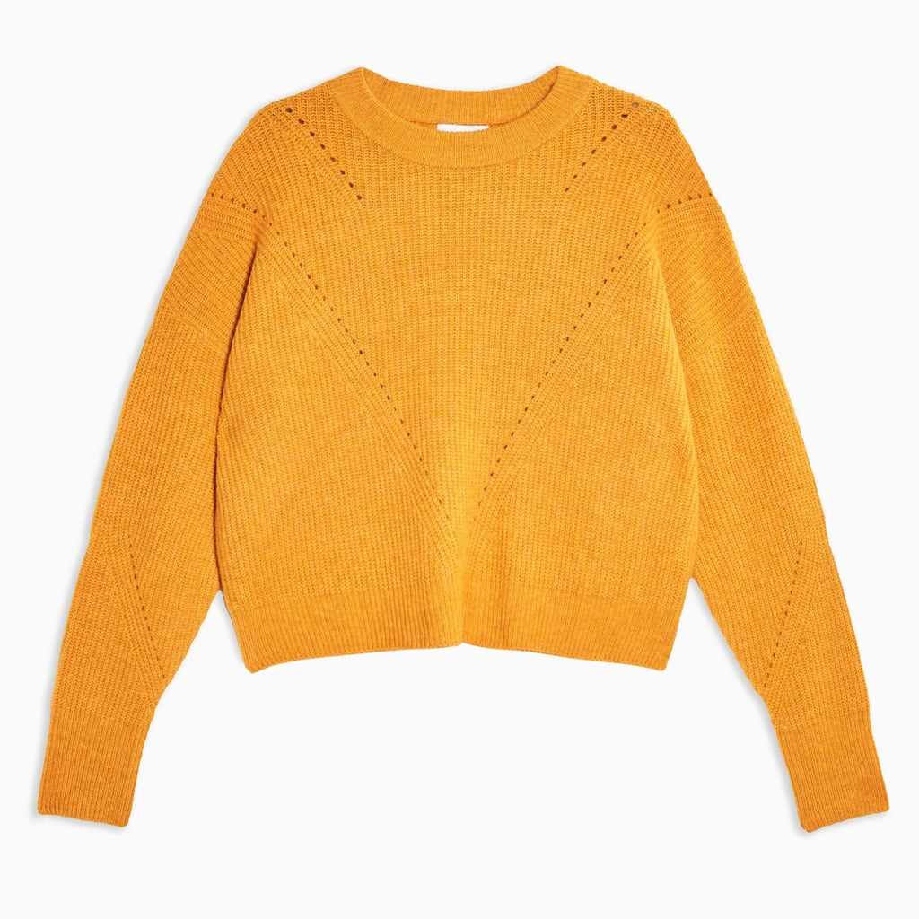 Topshop Knitted Boxy Fit Cropped Jumper