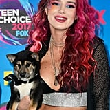 Leave It to Bella Thorne to Rock Face (and Cleavage!) Glitter on the Red Carpet