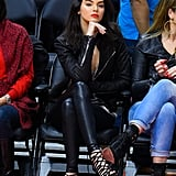 Kendall's Unamused . . . Unless She's Playing With Her Shoes