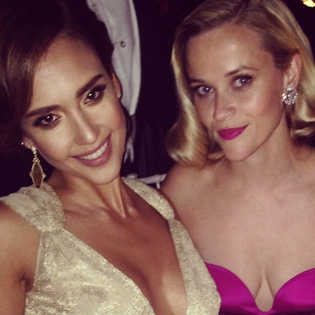 Jessica Alba and Reese Witherspoon took this fun photo. Source: Instagram user jessicaalba
