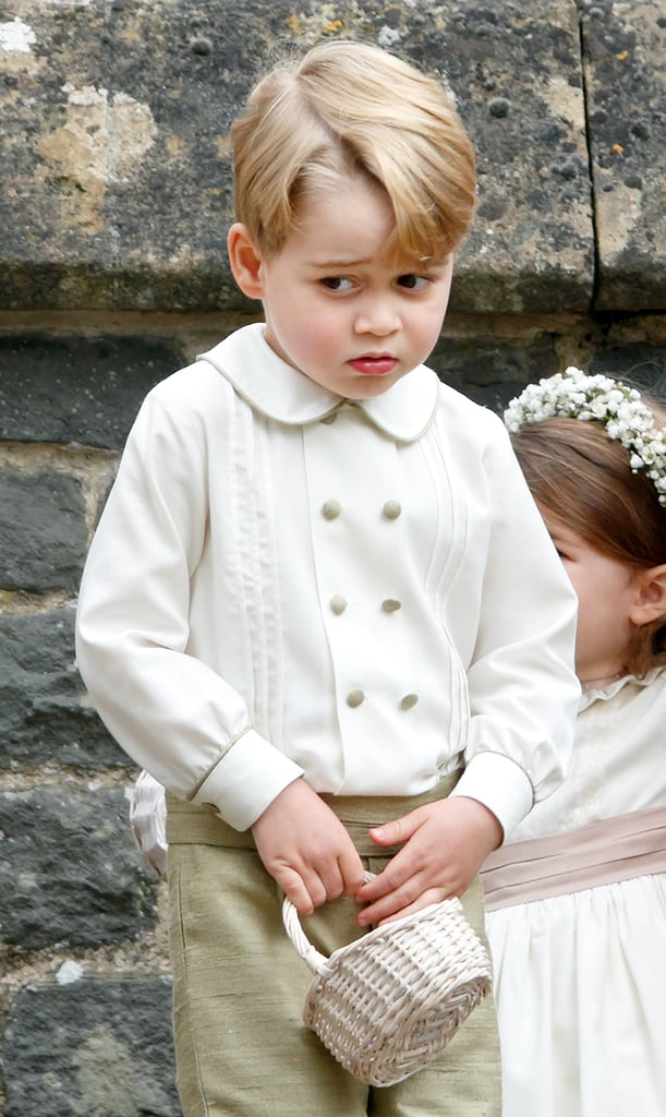 Prince George was back with another hilarious facial expression after attending his aunt Pippa's wedding as a page boy.