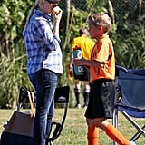 Reese Witherspoon Hits the Sidelines For a Soccer Day With Deacon