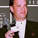 Tom Hanks won for Forrest Gump at the first ever Screen Actors Guild Awards in 1995.
