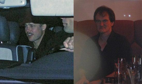 Photos of Brad Pitt and Quentin Tarantino in Berlin to Film Inglorious Bastards