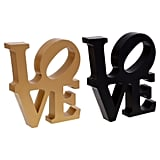 Decorative Plastic Love Signs