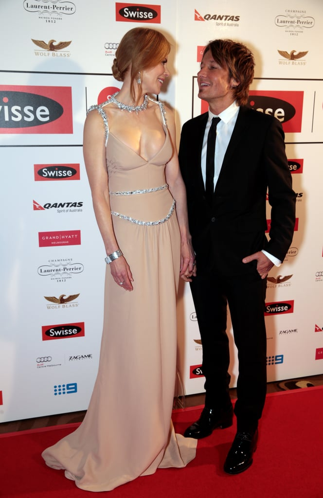 Nicole and Keith exchanged the look of love on the red carpet at the inaugural Celebrate Life Everyday Ball in Melbourne in June 2014.