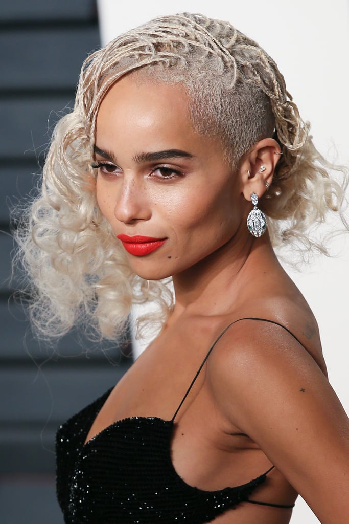 Zoe kravitz hair at vanity fair oscars party 2017 for Blow out karlsruhe