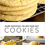 Yellow Cake Batter Cookies