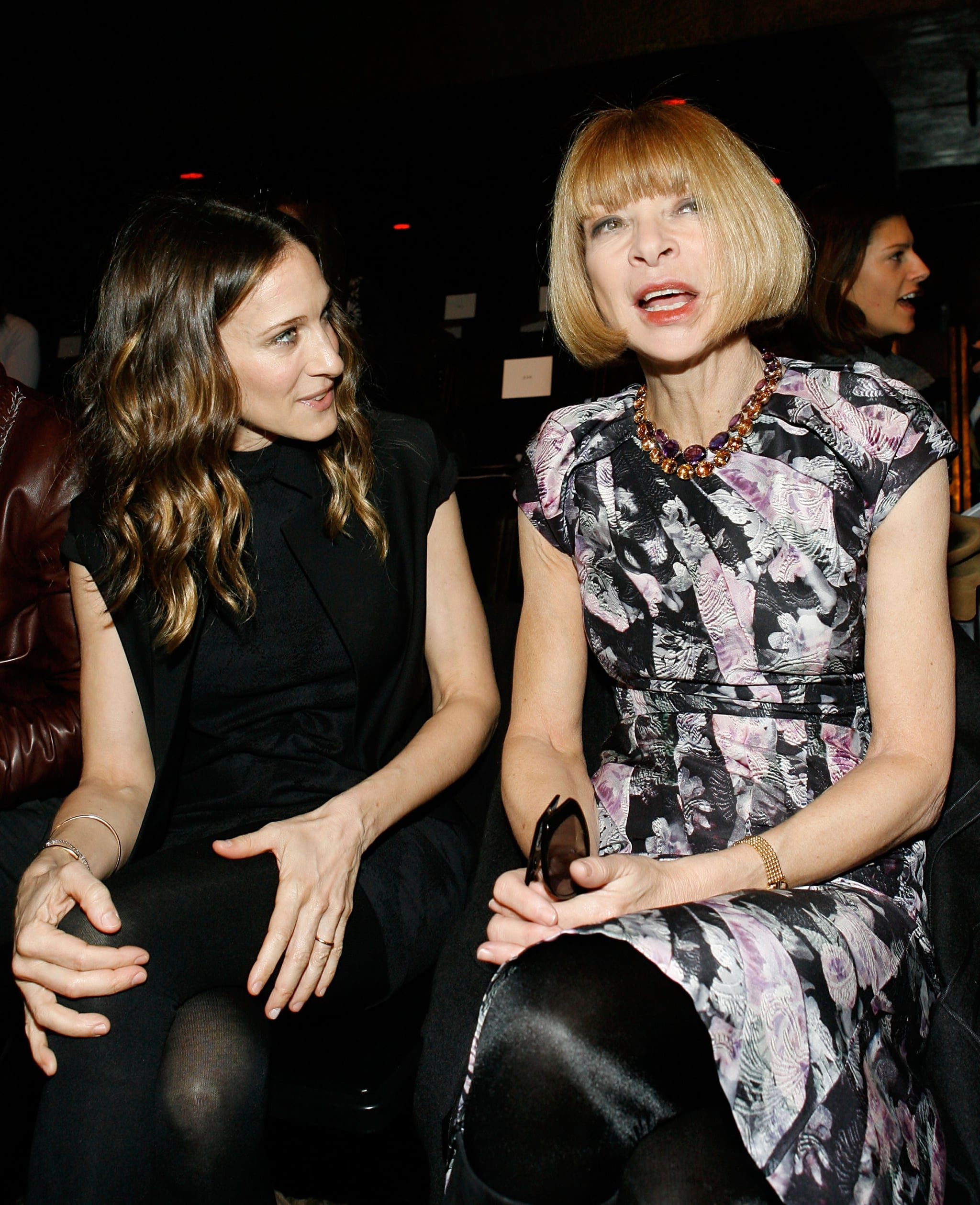 Sarah Jessica Parker and Anna Wintour caught up at Alexander Wang in February 2009.