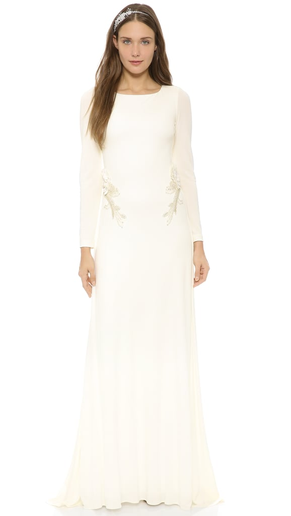 Badgley Mischka Open Back Jersey Gown ($695)