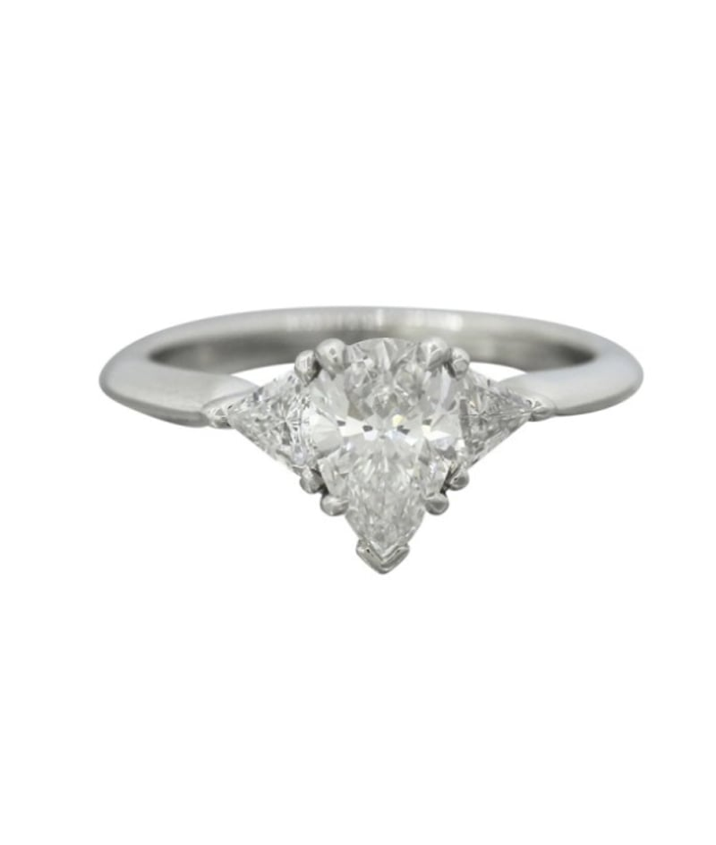 Tiffany & Co. Pear-Cut Diamond Engagement Ring