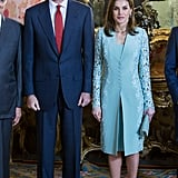 Letizia in Felipe Varela, April 2018
