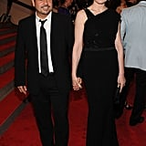 Narcisco Rodriguez with Julianna Margulies in his design