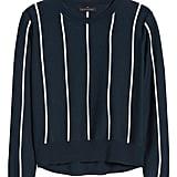 Stripe Boxy Cropped Sweater