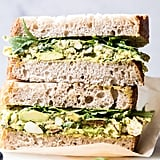 Mediterranean Avocado Chicken Salad Sandwich