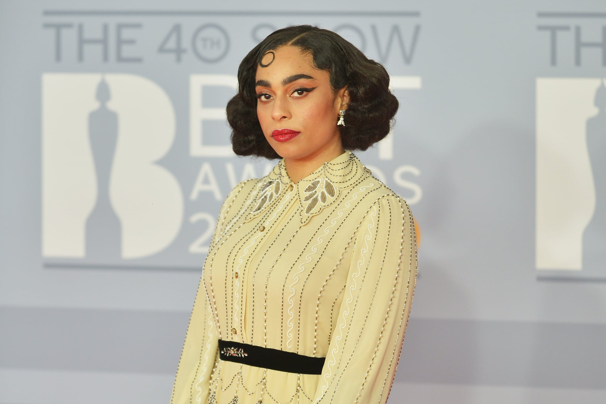 LONDON, ENGLAND - FEBRUARY 18: (EDITORIAL USE ONLY)  Celeste attends The BRIT Awards 2020 at The O2 Arena on February 18, 2020 in London, England. (Photo by Jim Dyson/Redferns)