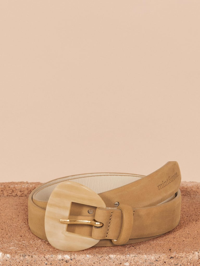 Pocahontas: Mint & Rose Leather Belt