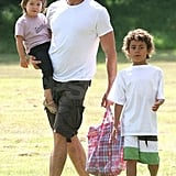 Hugh Jackman Plays Around with His Kiddos