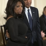 Barack Obama was on hand to present his pal Oprah Winfrey with the Presidential Medal of Freedom in November 2013.