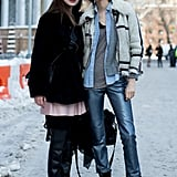 These babes layered up two distinct Winter styles.