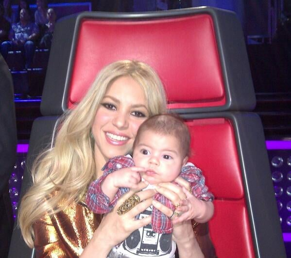 Shakira gave birth to Milan Piqué Mebarak, her first child with Gerard Piqué, in January 2013. Source: Twitter user shakira