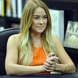 Lauren Conrad signed copies of her books at a bookstore in Miami.