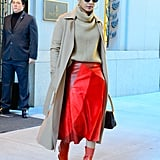 Priyanka Chopra's Red Boots October 2018
