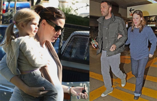 Photos of Jennifer Garner and Violet Affleck, Ben Affleck Taking Jen to the Hospital